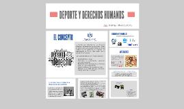 DEPORTE Y DERECHOS HUMANOS