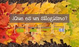 ¿Que es un silogismo?