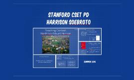 Stanford CSET PD
