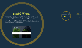 Copy of Quick Write: