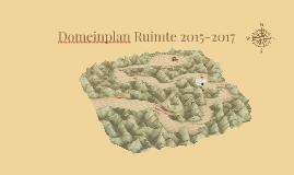 Domeinplan Ruimte 2015-2017