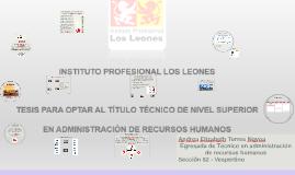 Copy of Copy of Tesis Técnico en RRHH