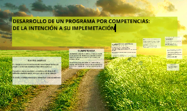 Copy of Desarrollo de un programa por competencias: