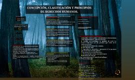 CONCEPCIÓN, CLASIFICACIÓN Y PRINCIPIOS DE DERECHOS HUMANOS.