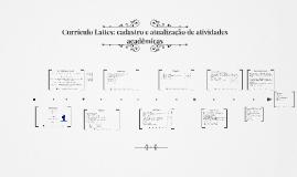 Currículo Lattes: cadastro e atualização de atividades