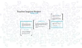 Teacher Inquiry Project