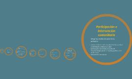 Participación e intervención comunitaria