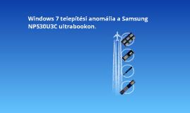 Samsung NP530U3C Win7 setup error
