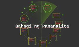 Bahagi ng Pananalita