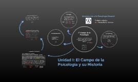 Unidad I: El Campo de la Psicología y su Historia