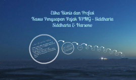 Copy of Kasus Penyuapan Pajak KPMG – Siddharta Siddharta & Harsono