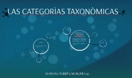 LAS CATEGORÌAS TAXONÒMICAS