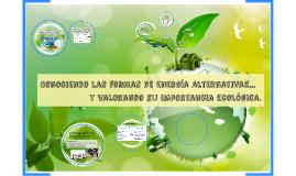Conociendo las formas de energía alternativas