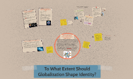 should globalization shape identity The quest for identity - zora neal  globalization, cultural identity]:: 9  bring their cultures and the traditions that help to shape their identity.
