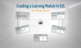 Creating a Learning Module in D2L