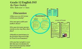 Grade 12 English ISU