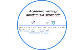 tidsplan akademiskt skrivande