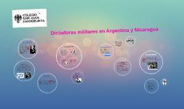 Dictaduras militares en Argentina y Nicaragua