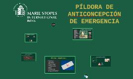 PILDORA DE ANTICONCEPCIÓN DE EMERGENCIA