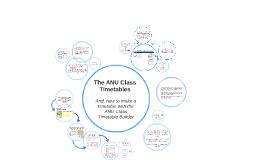 Your ANU Class Timetable