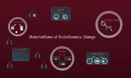 Observations of Evolutionary Change