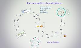 Barra energética a base de plátano