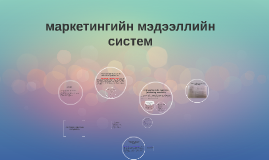Copy of маркетингийн мэдээллийн систем