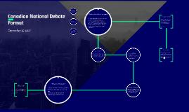 Canadian National Debate Format