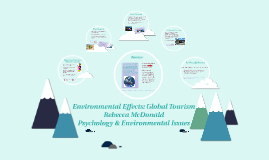 Environmental Effects: Global Tourism