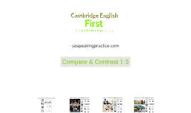 1.3 COMPARE & CONTRAST - FIRST (FCE)