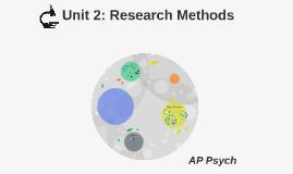 Unit 2: Research Methods