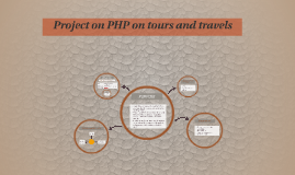 Project on PHP on tours and travels