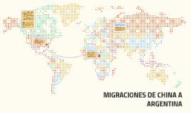 MIGRACIONES DE CHINA A ARGENTINA