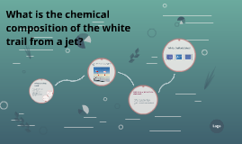 What is the chemical composition of the white trail from a j