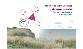 Investigación.Nutrición comunitaria y desarrollo social