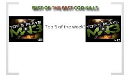 top COD kills!!!