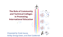 The Role of Community and Technical Colleges in Promoting International Education