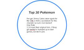 Top 30 Pokemon