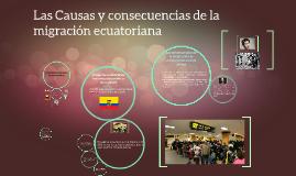 Copy of Las causas y consecuencias de la migración ecuatoriana