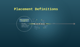 Placement Definitions