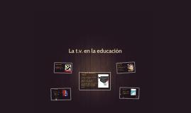 La t.v. en la educación