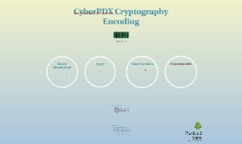 CyberPDX Crypto 1: Encoding