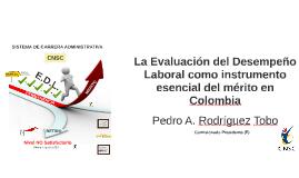 Copy of La Evaluación del Desempeño Laboral como instrumento esencia