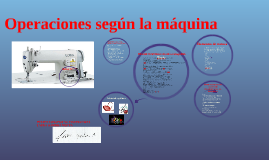 Operaciones según la máquina