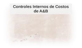 Controles Internos de Costos de A&B