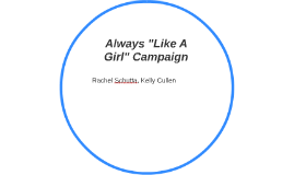 """Always """"Like A Girl"""" Campaign"""