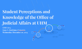 Student Perceptions and Knowledge of the Office of Judicial
