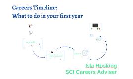 2018-19: BIO Yr 1: Careers Timeline