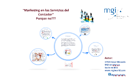 """Marketing en los Servicios del Contador"""