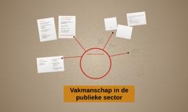 vakmanschap in de publieke sector